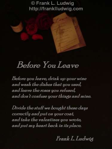 1 - Before You Leave
