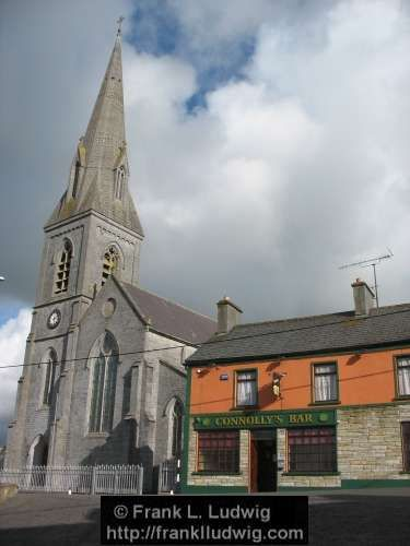 Church of the Assumption and Connolly's, Collooney, County Sligo